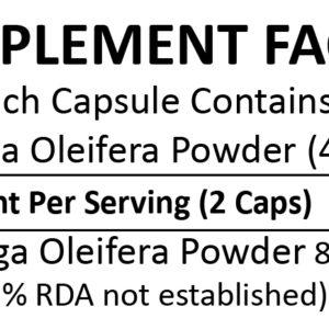 Miracle Moringa (Organic Moringa Oleifera) 150 Capsules (400mg)