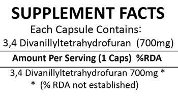 Divanil 3,4 Divanillyltetrahydrofuran 150 Capsules (700mg)