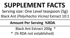Black Ant Powder Supplement Facts