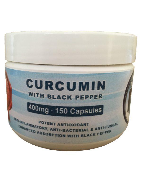Curcumin with Black Pepper 400mg Caps